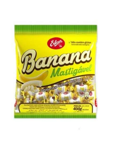 Bala de Banana Erlan 400g