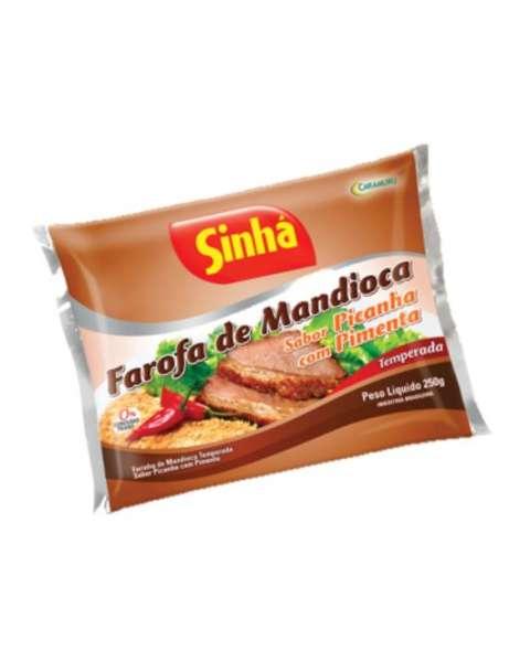 Farofa de Mandioca Sabor Picanha com Pimenta Sinhá 250g