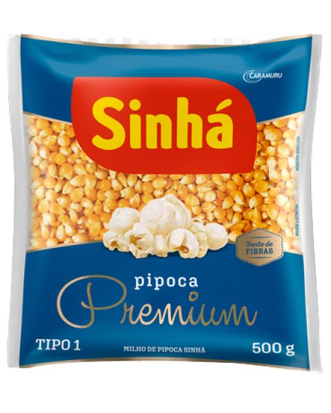 Milho para Pipoca Premium Sinhá 500g