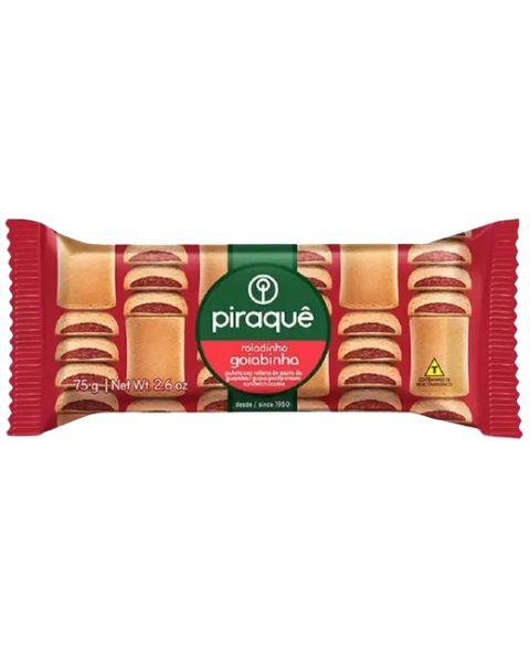 Biscoito Roladinho Goiabada Piraquê 75g