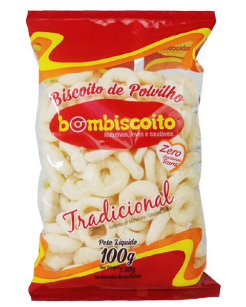 Biscoito Polvilho Tradicional Bombiscoito 100g