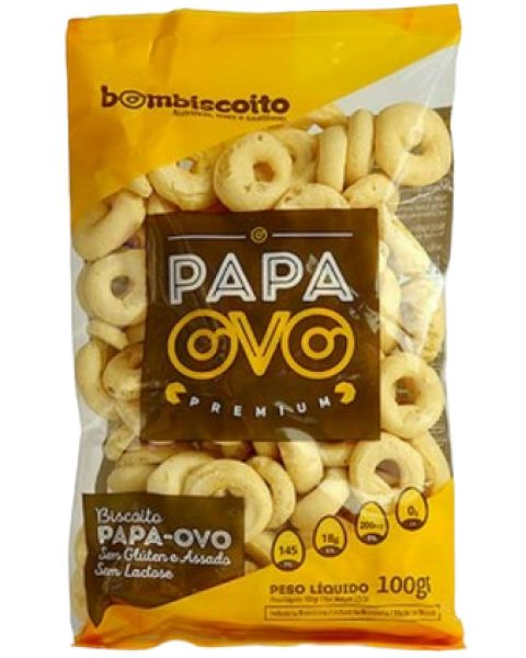 Biscoito Polvilho Papa Ovo Bombiscoito 100g