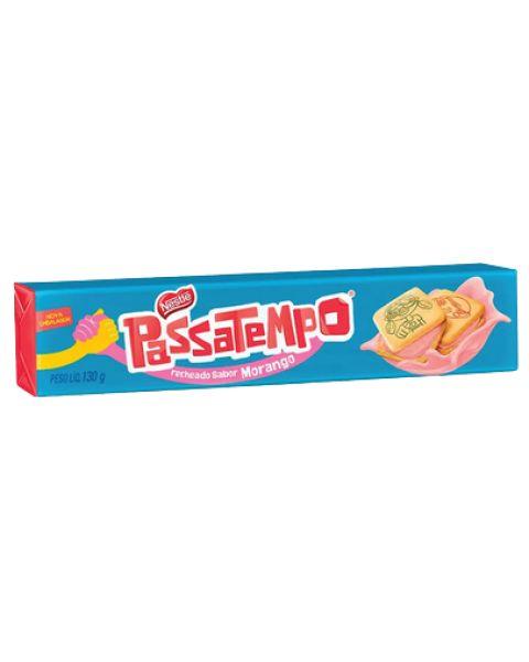 Biscoito Passatempo Recheio Morango 130g